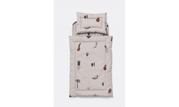 FERM LIVING KIDS|Lėlių lovos patalynės komplektas|FRUITICANA