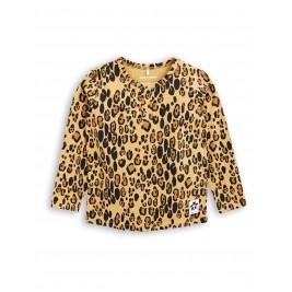 MINI RODINI Marškinėliai ilgomis rankovėmis LEOPARD BASIC